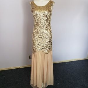 Dresses & Skirts - Gold Sequin Dress Evening Wedding Prom Dress